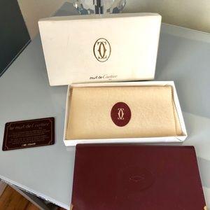 Cartier Must de Paris Bordeaux Wallet